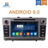 JDASTON Android 9.0 Car DVD Player For Toyota T27 Avensis 2009 2014 Octa Cores 4G+32G 2 Din Car Radio Multimedia GPS Navi Audio