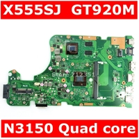 X555SJ MAIN_BD._0M /N3150/AS GT920M Mainboard REV 2.0 For ASUS X555 X555S X555SJ A555 A555S Laptop Motherboard 100% Tested