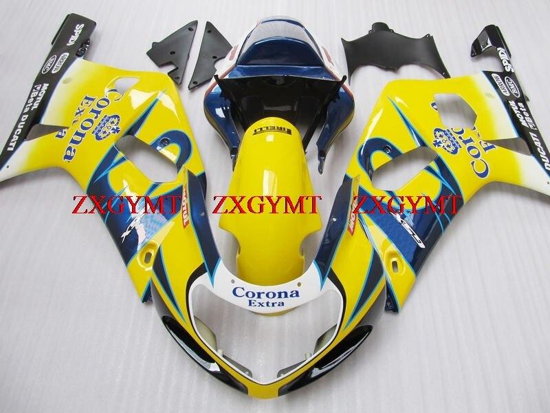 Fairings for GSX R600 R750 R1000 2000 - 2003 K1-2 Fairing Kits GSXR 600 750 1000 2003 Yellow Black 2003Fairings for GSX R600 R750 R1000 2000 - 2003 K1-2 Fairing Kits GSXR 600 750 1000 2003 Yellow Black 2003