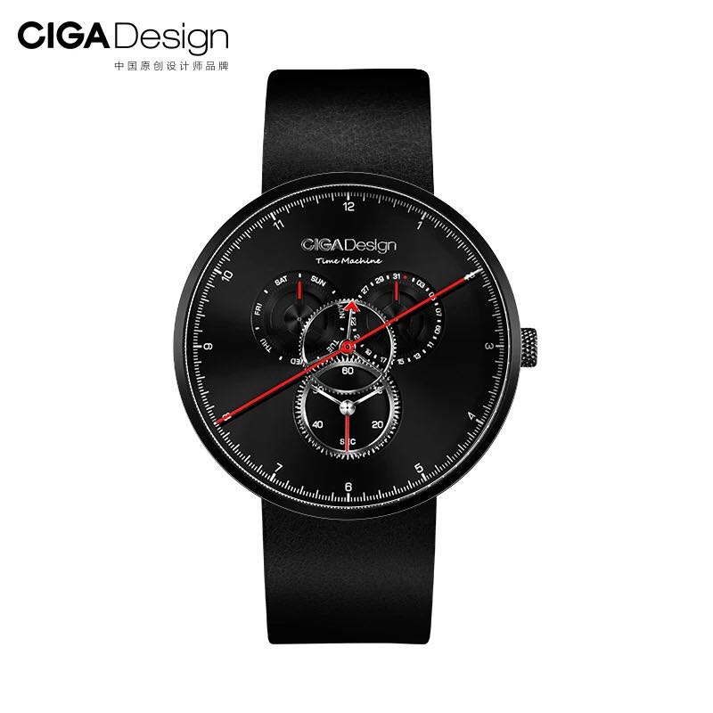 In Stock Xiaomi Ciga Watch Time Machine Three Gear Design Simple Quartz Watch One Pointer Design Adjustable Date Watch