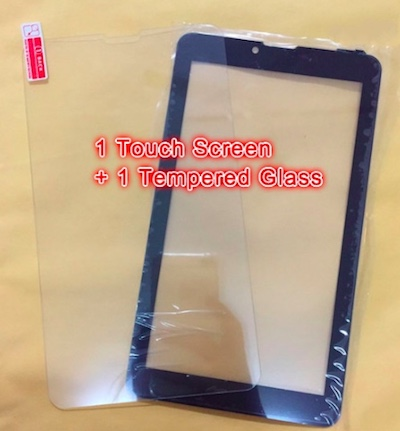Tempered Glass + New Touch Screen Digitizer For 7