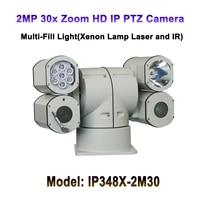 30x Optical Zoom 4 Housing Multi Fill Light 2MP Night Vision 400M HD IP PTZ Heavy