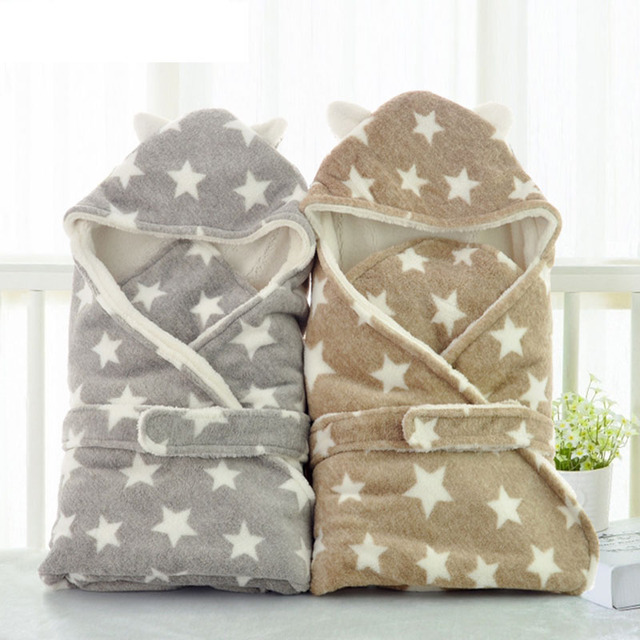 2554721ee4 Winter Baby Swaddle Wrap Baby Blankets Newborn Infant Baby Towel Super Soft  Short Plush Envelope Swaddling Sleeping Bag