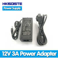 Lowest! 2017 New Hot Selling 12V 3A 36W AC For DC Power Supply Adapter for 2.1 & 2.5mm LED Strip Security Camera Free Shipping