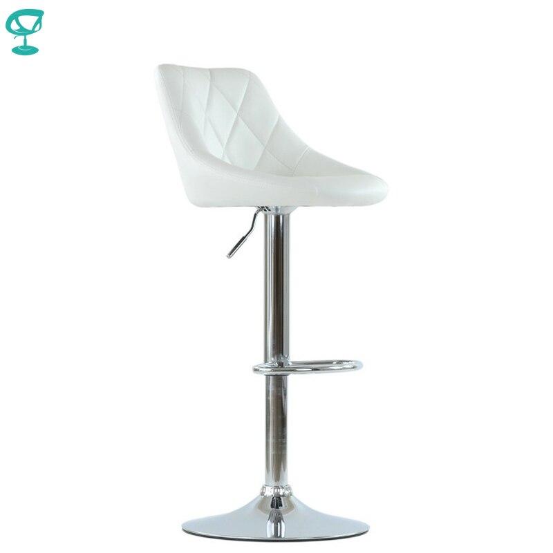 95533 Barneo N-83 Conforto Cozinha Café Bar Giro Cadeira Do Tamborete de Barra de Couro Bege cor frete grátis na Rússia