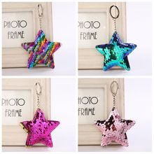 New Fashion Mermaid Sequins Handbag Pendant Star Shape Pattern Women Handbag Pendant Fashion Bag Accessories Kids Best Gift cheap Ornament Mermaid Sequins Pendent Zinc Alloy ISKYBOB Alloy Sequins 15*8cm Bag Handbag Purse Car Keychain Mermaid Sequins Keychain