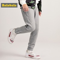 Balabala Boys Fleece Lined Side Stripe Pull on Joggers Sweatpants Sport Pants with Side Pocket Ribbed Waistband Elasticized Hem