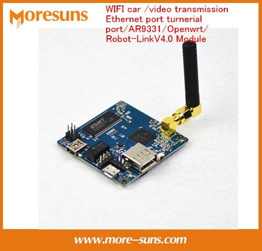 Быстрый Свободный Корабль Робот Автомобилей, WI-FI car/передачи видео/Ethernet порт turnerial порт/AR9331/Openwrt/Robot-LinkV4.0 Модуль