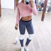 Good quality autumn and winter stitching fight color yoga fitness pants leggings physical exercise sports leggings professional