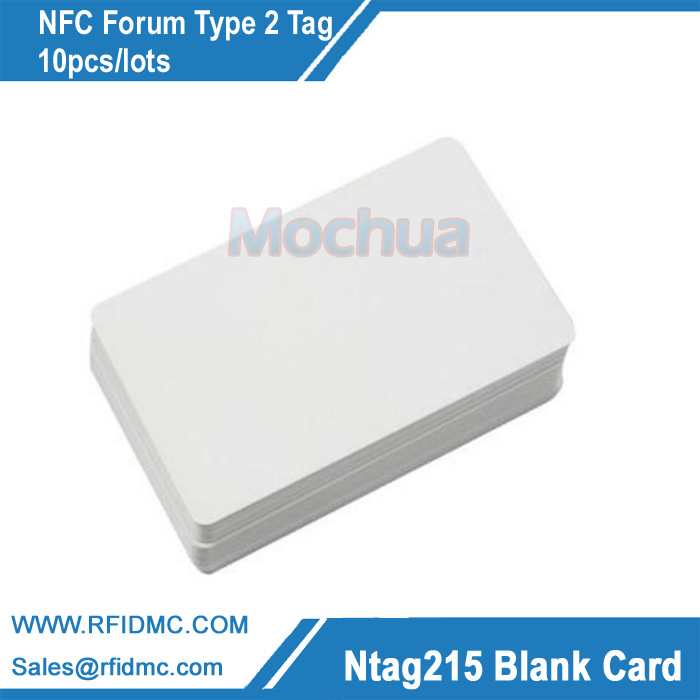 NFC Card Ntag215 Card With NTAG215 Chip For TagMo-10pcs