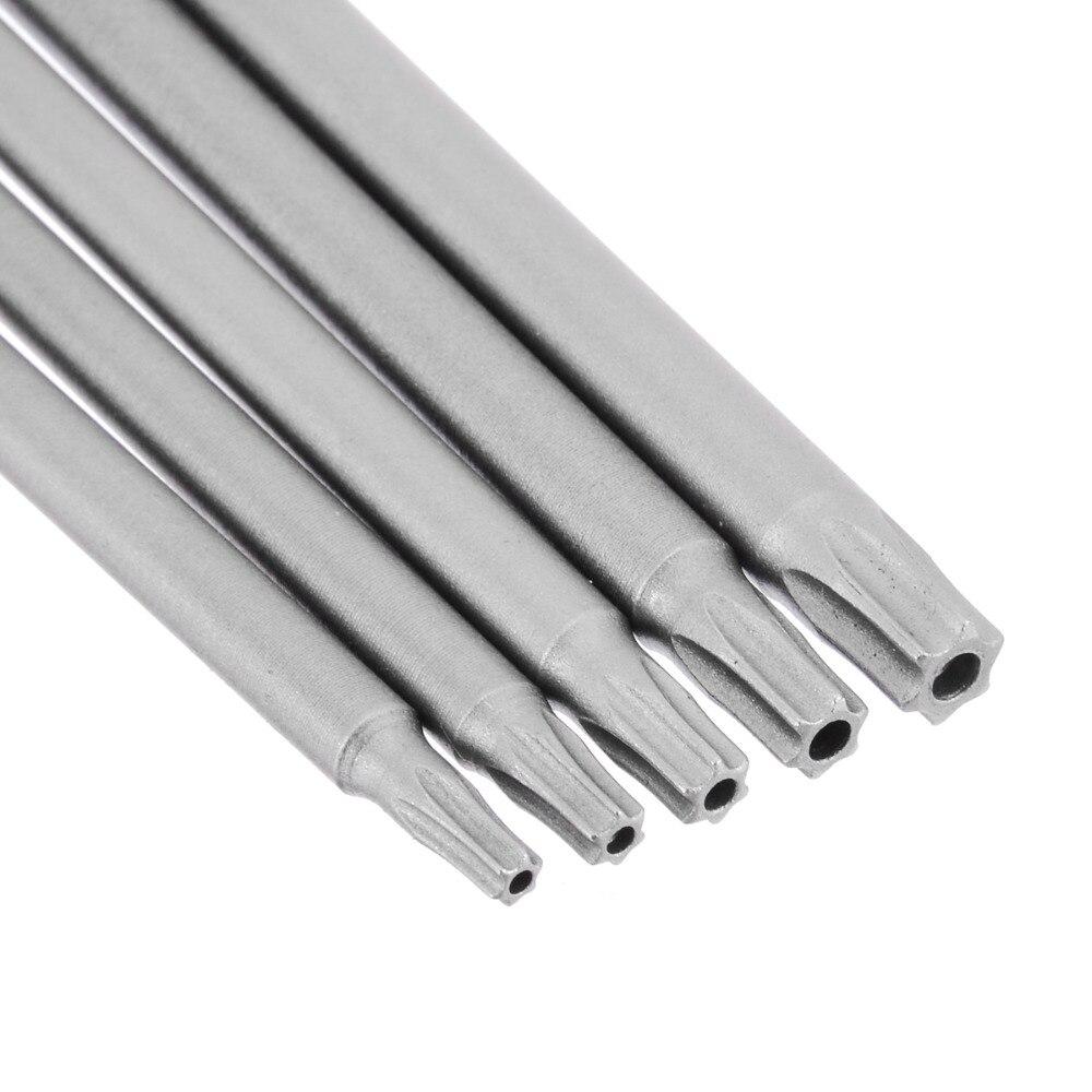 Купить с кэшбэком 5PCS 150mm Torx Screwdriver Bits Long Magnetic Electric Screwdriver Bits Set Multifunction Screwdriver Tools T10/T15/T20/T25/T30