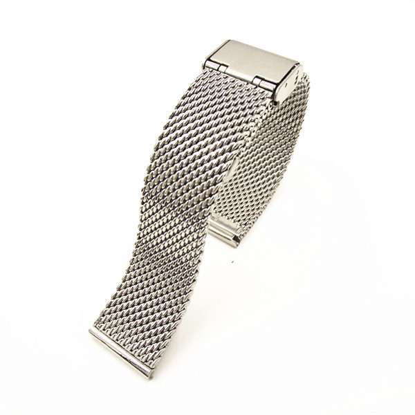 1PCS High quality 18MM 20MM 22MM Stainless Steel Watch band Watch strap Bracelets Strap sliver color