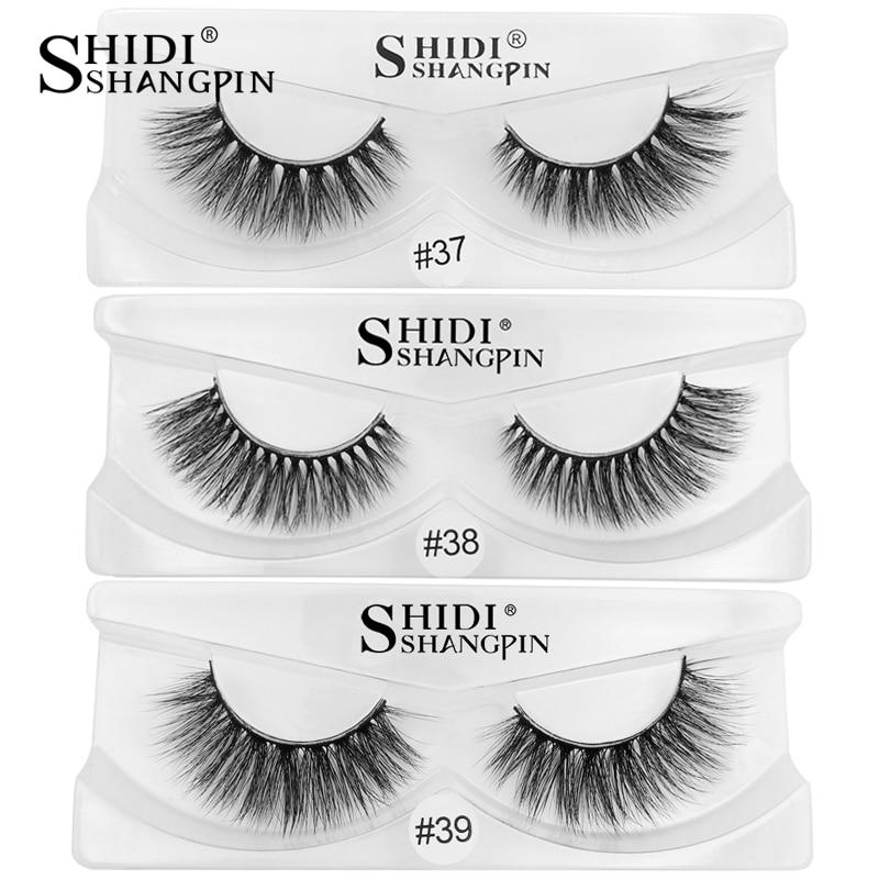 SHIDISHANGPIN 1 pair false eyelashes natural eyelash extension 3d mink lashes hand made mink eyelashes makeup fake eye lashes
