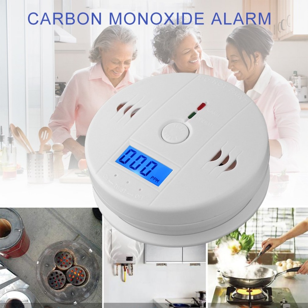 Home Gas CO Sensor Warning Alarm Detector LCD Displayer Carbon Monoxide Poisoning Smoke Analyzer Kitchen Bathroom Gas Analyzers цена