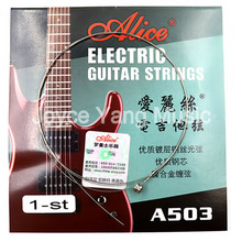 10 pieces E-1st Alice Electric Guitar Strings Steel Core Plated Steel Coated Nickel Alloy Wound Guitar Parts Strings Super Light 6 pieces set alice electric guitar strings steel core plated steel coated nickel alloy wound guitar parts strings super light