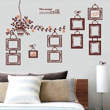 2016 DIY Home Decor Wall Sticker Eruope Gaya Bingkai Foto Stiker dinding untuk Ruang Tamu ruang Belajar Dekorasi Dinding Rumah hadiah