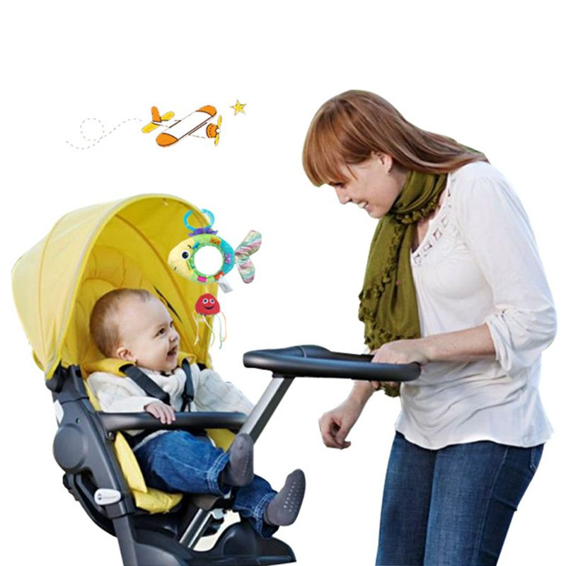 Mother & Kids Lower Price with Baby Stroller Pendant Plush Fish Cartoon Mirror Pacifier Hanging Bed Cute Toys Soft Squeaky Rattle Newborn Sleeping Infant Kids