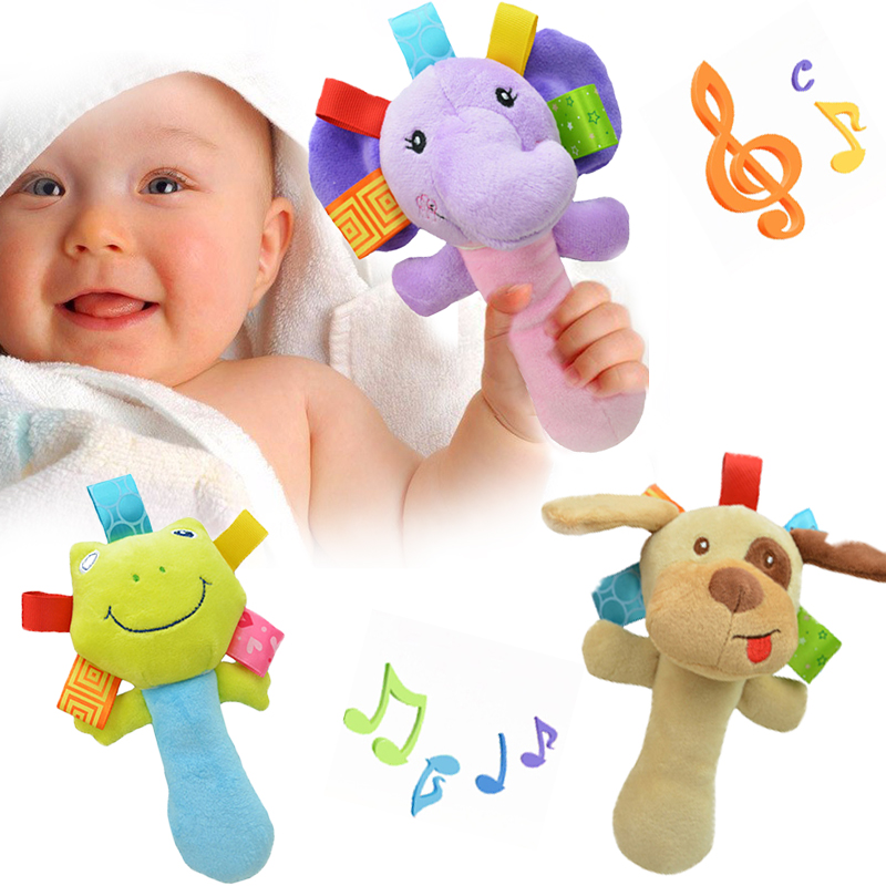Newborn Baby Toys 0-12 Months Cartoon Animal Baby Plush Rattle Mobile Bell Toy Infant Toddler Early Educational Toys speelgoed 1