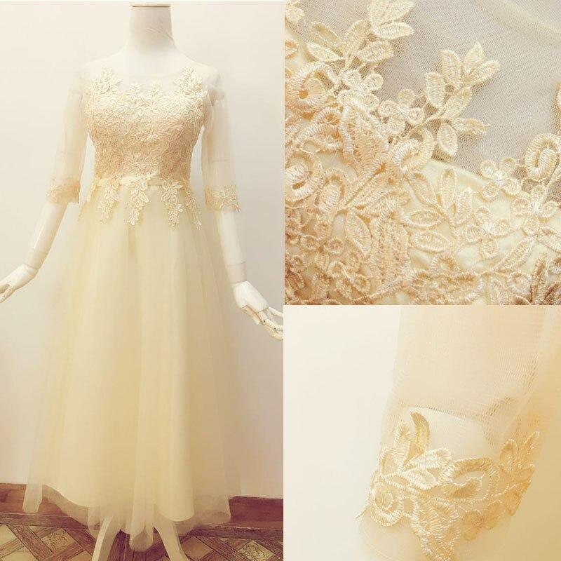 2017 new   Bridesmaid     Dresses   plus size stock cheap under $50 sexy romantic sister simple elegant fashion long champane lace