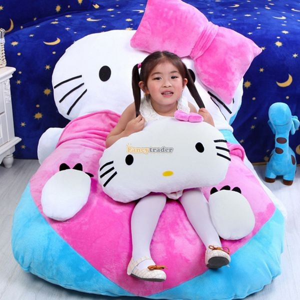 Fancytrader 140cm X 100cm  Giant Lovely  Hello Kitty Bed Carpet Sofa Tatami for Kids, Free Shipping FT50311  (2)