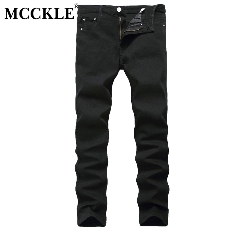 MCCKLE 2017 autumn Hot Sale Men Jeans Pencil Pants Mens Black Teenagers Casual Fashion Slim Fit Jeans Men Pant size 27-42 autumn new arrival 2017 jeans pants afs jeep elastic mens straight men black mid risef slim fit men s casual fashion men s jeans