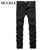 MCCKLE 2017 Autumn Hot Sale Men Jeans Pencil Pants Mens Black Teenagers Casual Fashion Slim Fit