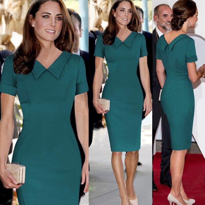 0f3d51322d9d Hot New 2019 Women Celebrity Elegant Tunic Princess Dress Peter Pan Collar  Stretch Bodycon Pencil Short