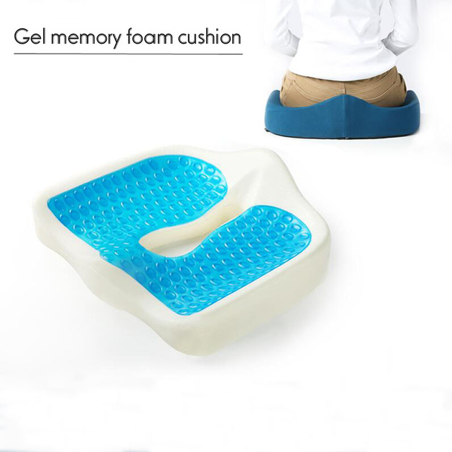 Aliexpress Com Buy Car Driver Foldable Cooling Gel Office Chair Memory Foam Cool Seat Cushion From Reliable Cushion Suppliers On Professional
