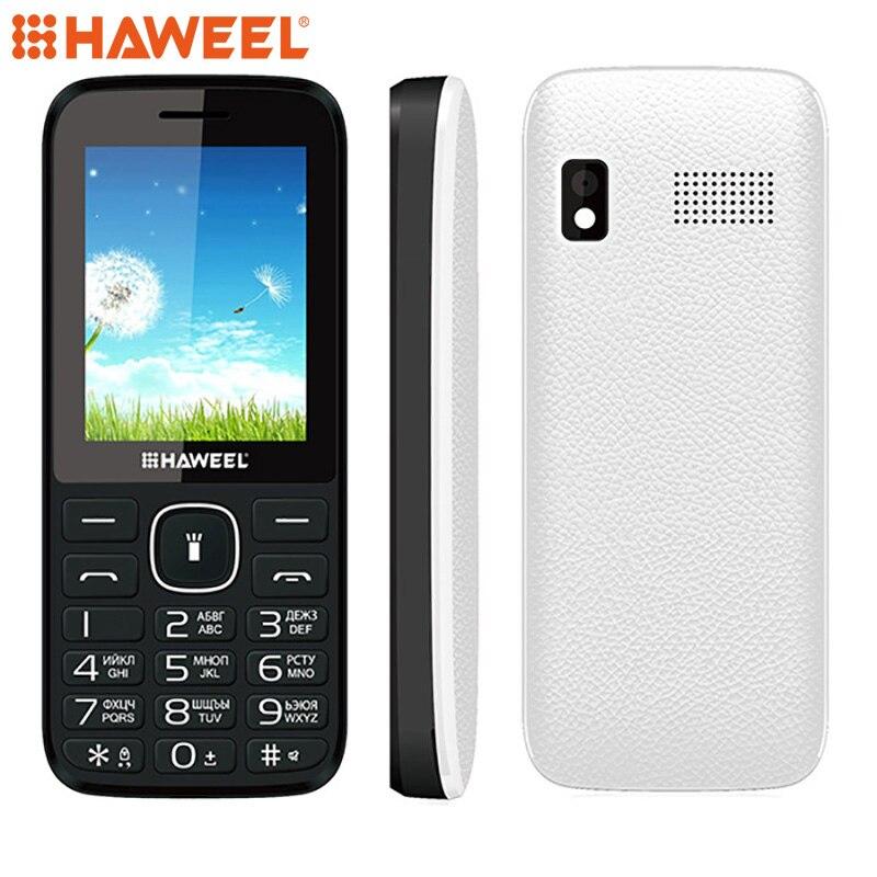 Russian English Keyboard Haweel X1 Cell Phone Elder Phone 2 4 inch Dual SIM Super Big