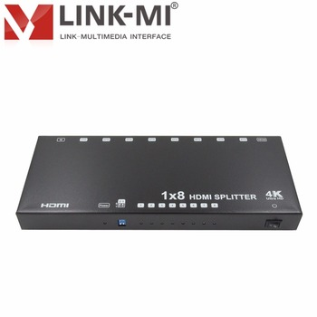 LINK-MI LM-SP148E-HD4K2K HD 4Kx2K@60Hz 1x8 HDMI Splitter With DIP Switch, EDID, HDCP