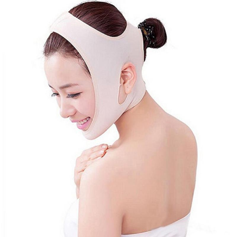 1pc Breathing Lightweight Facial Mask Slim Tension Wrinkle Removal Mask V Face Chin Cheek Lift Up Slimming Beauty Face Care Tool