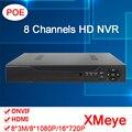 XMeye Приложение Hisiclion Датчик Dahua Внешней 1080 P ONvif HD Digital 8 Канал POE, Ip-камера Видеонаблюдения NVR FreeShipping