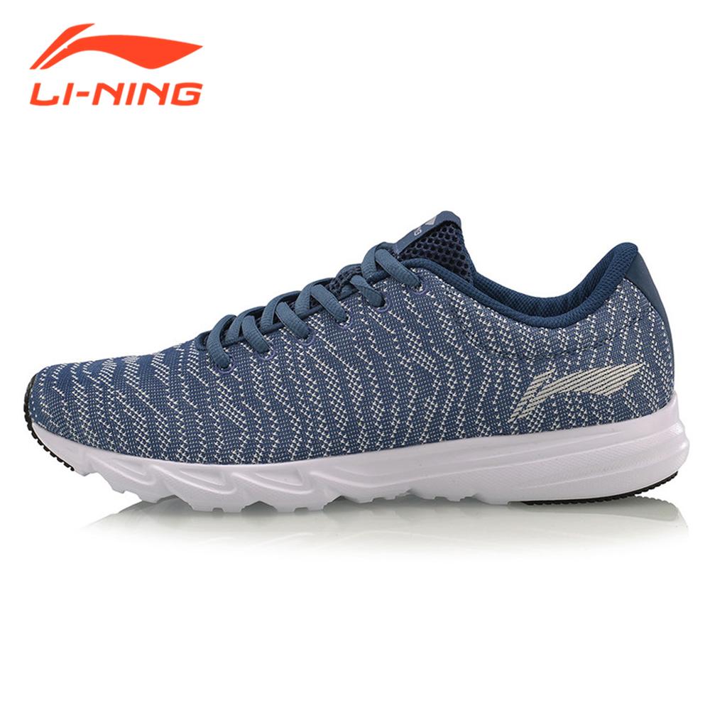 Prix pour Li-Ning Hommes Lumière-poids Chaussures de Course Respirant LiNing Marque Hayate Série Hommes de Sport Espadrilles Bleu/noir ARBM115