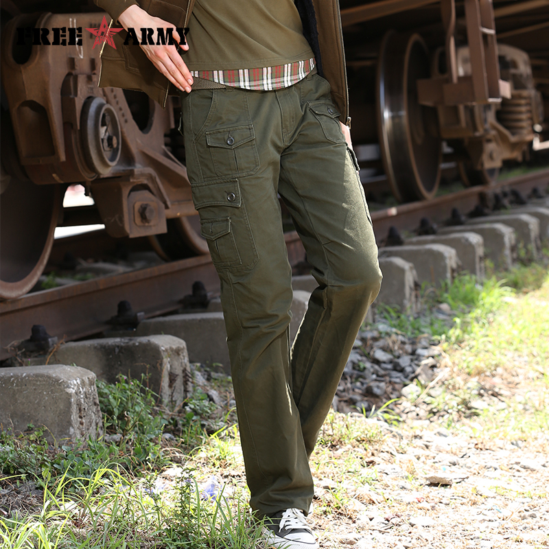New Design Womens Army Style Cargo Pants Brand Pants Women Military Green Joggers Cargo Pants Trousers