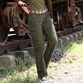 Новый Дизайн Женщин Армия Стиль Cargo Брюки Марка Брюки Женщины Военный Зеленый Бегунов брюки-Карго Брюки Gk-919