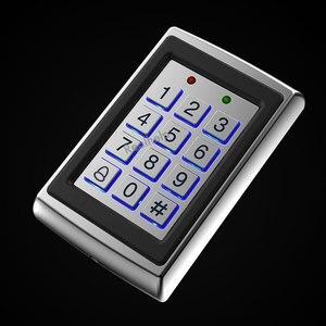 Image 2 - 8000 gli utenti di Cassa del Metallo Tastiera di Controllo di Accesso con Retroilluminazione Porta Singola di Controllo Indipendente di Codice Dispositivo di Accesso Digitale