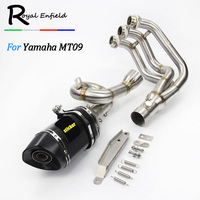 New arrive Motorcycle Exhaust muffler Modified Scooter Clamp On Mid Pipe Slip On Mid Pipe For Yamaha MT 09 MT09 MT 09 front pipe
