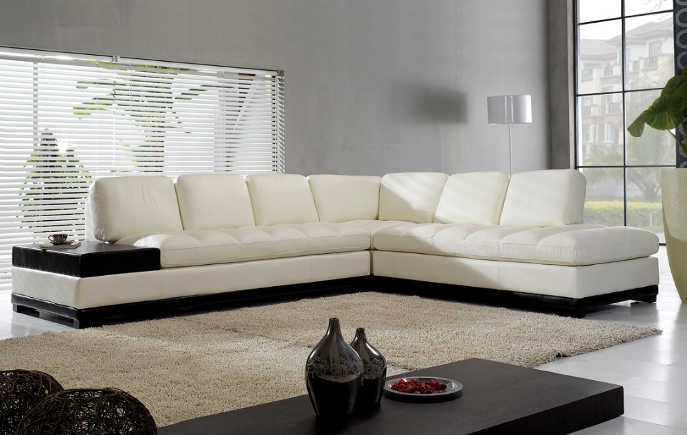 High Quality Living Room Sofa In Promotion Real Leather Sectional Ectional Corner