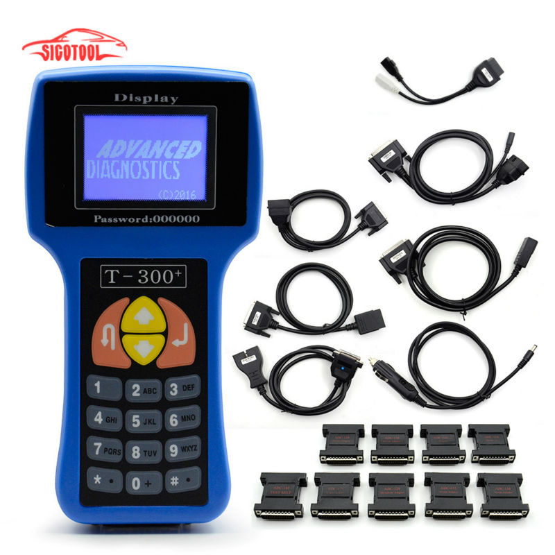 Professional Auto Key Programmer T300 Newest V16.8 T 300 T-CODE English or Spanish Blue/Black Cars T-300 Auto Transponder