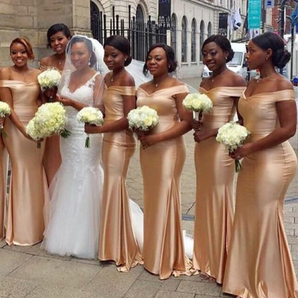 vestido madrinha New   Bridesmaid     Dresses   2019 Boat Neck Sleeveless Floor Length Satin brautjungfernkleid Wedding Party   Dresses
