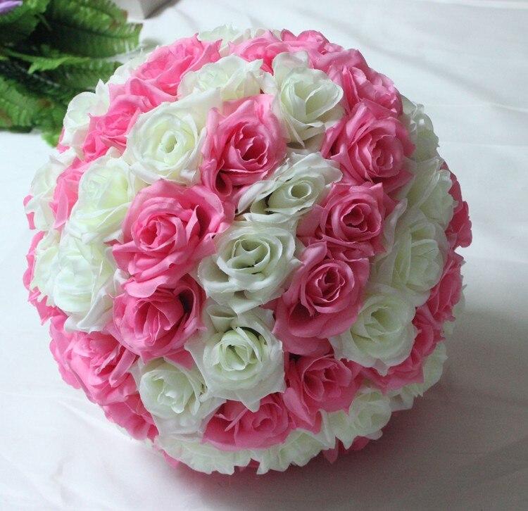 Tiffany Blue Wedding Decorations Artificial Rose Silk Flower Ball