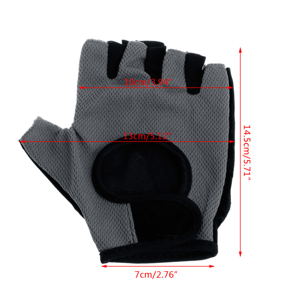 Mesh Weight Lifting Gloves: Body Building Exercise Gym Weight Lifting Sport Mesh Half