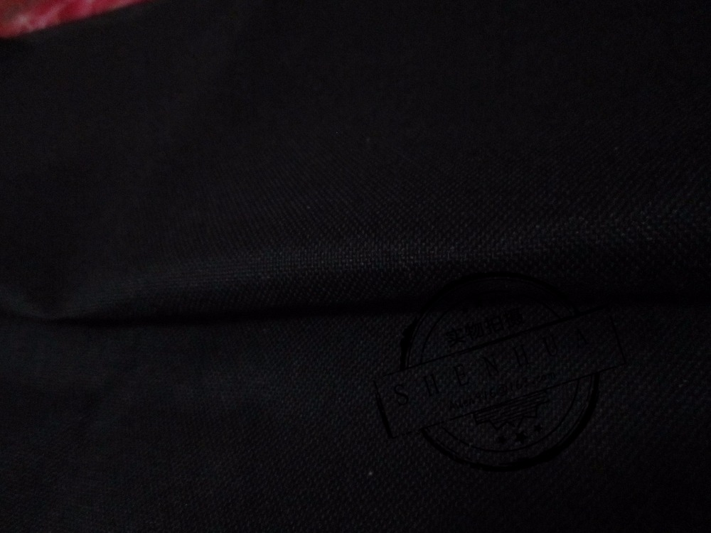 Super thick cordura 1000D black nylon fabric, short-time waterproof cloth, anti tear cloth. abrasion-Resistant Fabric