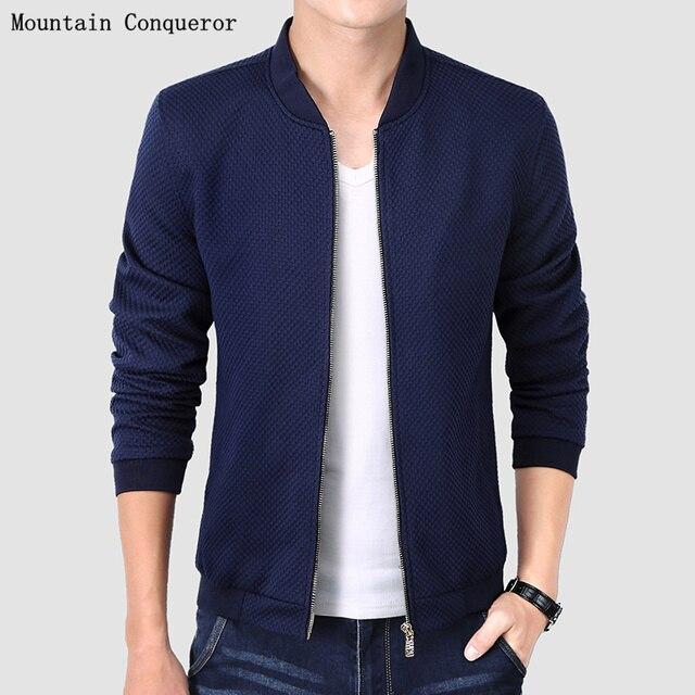 AIRGRACIAS High Quality New Design Men's Jacket Winter&Autumn Cotton 3 Color Slim Plaid Jacket For Man Brand Clothing