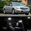 12v 5pcs LED Bulb Interior Dome Map trunk Lights Package Kit For Nissan Teana 2008-2011 car-styling