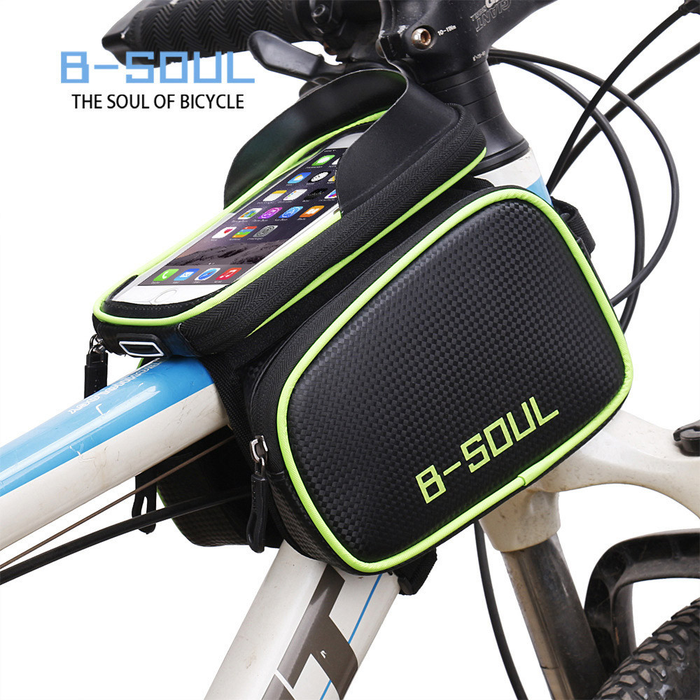 Bike Cycling Bicycle Frame Pannier Saddle Front Tube Bag Double Pouch Bag Holder