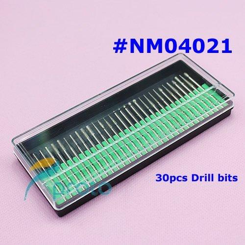 "10 sets/lot 30PCS/set Drill Bits Kits drill set Shank 3/32"" Manicure and Pedicure Nail Tools Wholesales SKU:E0086X"
