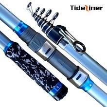 Tideliner 3.6m 3.9m 4.2m 4.5m surf casting spinning fishing rod carbon fiber sea surfcasting telescopic fishing rod 60-150g