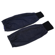 1 Pair Portable Welding Arm Sleeves Denim Working Sleeves Cut Resistant Heat Protection Welder Hand Arm Protective Sleeves wear resistant cowhide welding leather sleeves of welder clothing with high temperature resistance working safety sleeves g0823