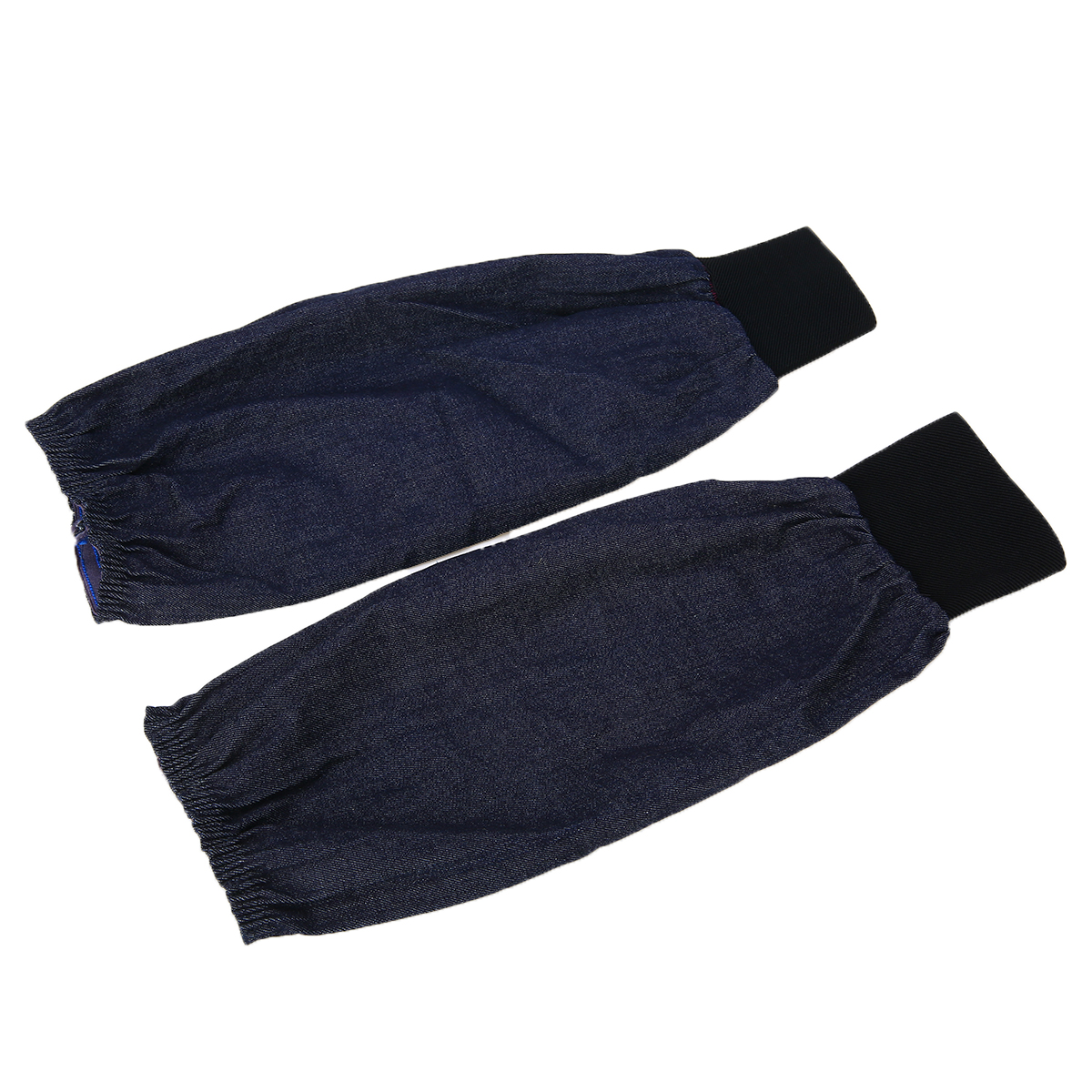 1 Pair Portable Welding Arm Sleeves Denim Working Sleeves Cut Resistant Heat Protection Welder Hand Arm Protective Sleeves image